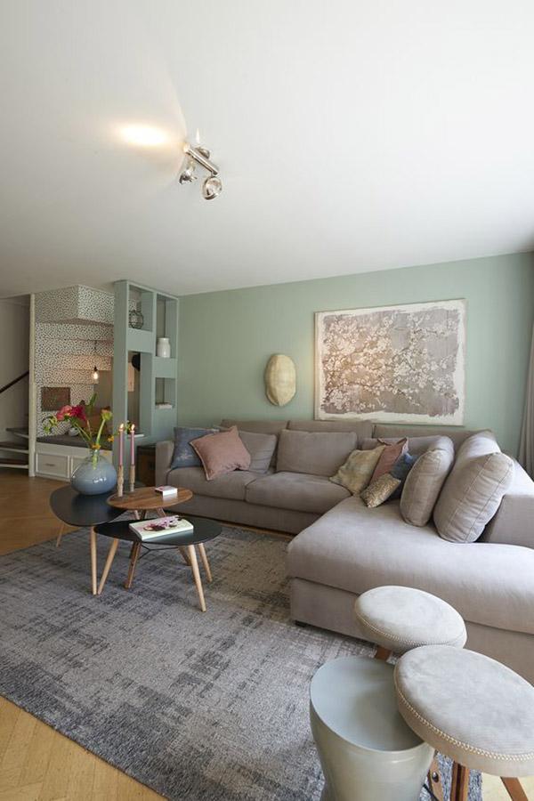 Oturma odası için Feng Shui renkleri: Yeşil