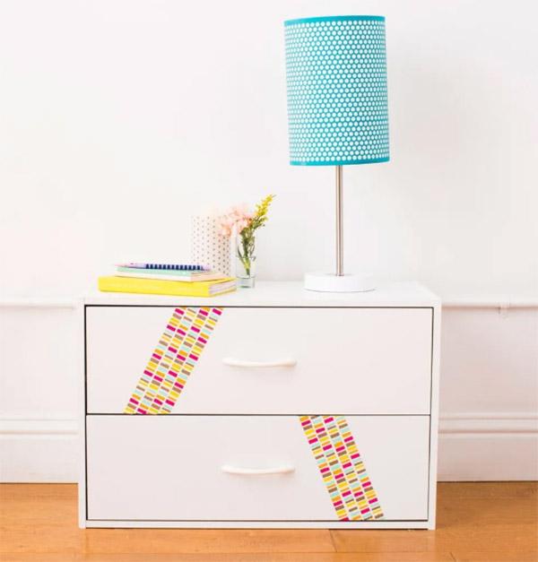 Evden çıkmadan ücretsiz olarak wahsi bantla dekore edilmiş mobilyalar