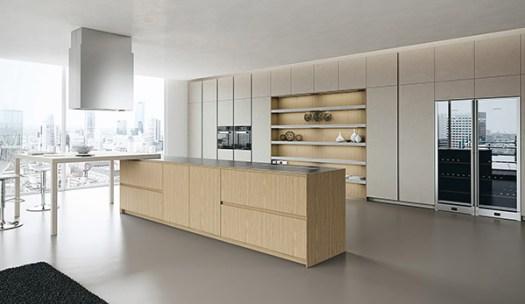 Cocina Arrital con estantes abiertos