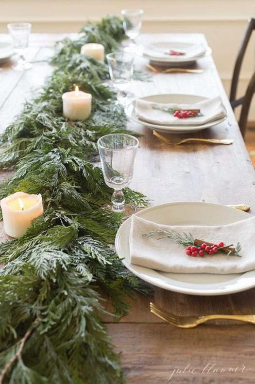 Mesa de navidad sencilla y bonita