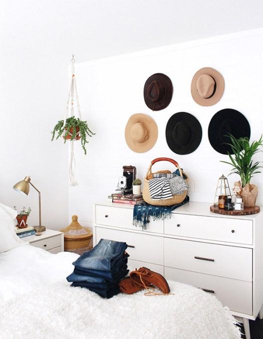 Sombreros para colgar en las paredes