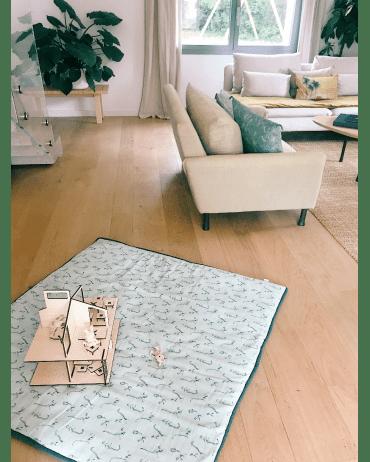 grand tapis d eveil carre lemurien celadon orage honore