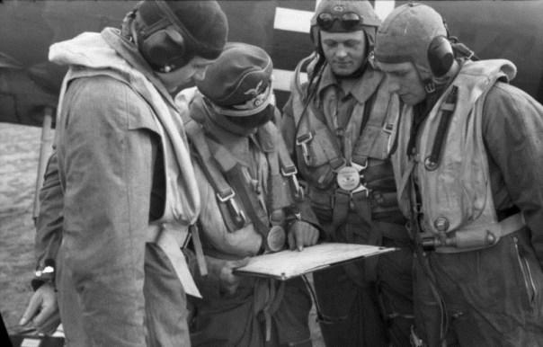 Luftwaffe pilots.