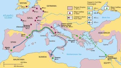 Eroberung Galliens Quelle: antikefan.de