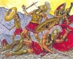 Spartaner im Kampf