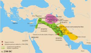 Ausdehnung Sargons von Akkad