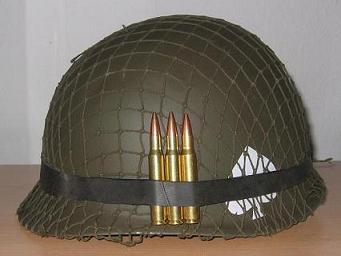 Casco americano in acciaio, tipo M1
