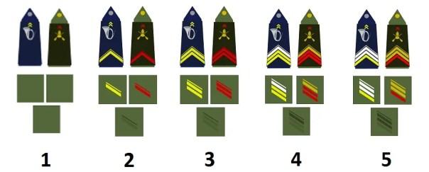 Mannschaften der französischen Armee