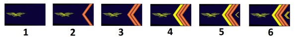 Team's ranks of the French air force