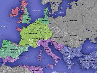 L'Europa dopo il crollo dell'Impero Romano d'Occidente