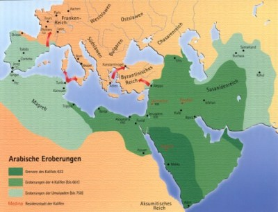 The biggest expansion of the Islamic empire around 711