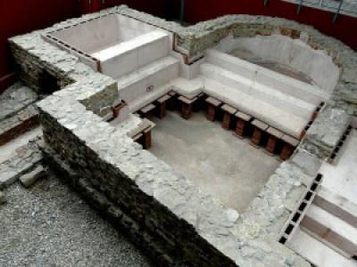 Il piccolo bagno militare al castello di Osterburken