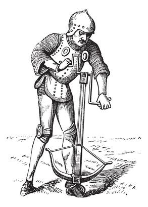 pauvre de poitrine tireur médiéval