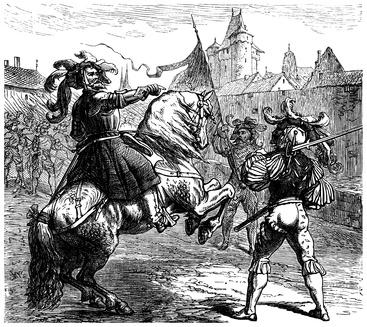 Deutscher Landsknecht mit Kommandeur