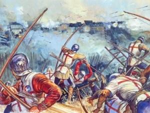 Englische Langbogen Schützen