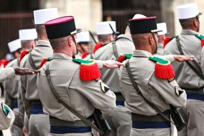 Foreign Legion in parade uniform