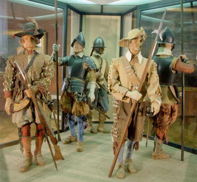 Musketiere und Pikeniere aus der Zeit des Dreißigjährigen Krieges