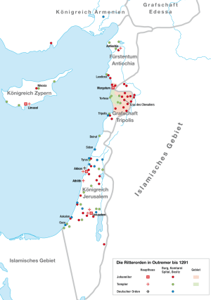 Rami dei Cavalieri in Terra Santa fino al 1291