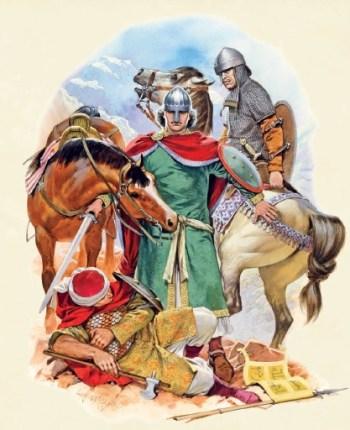 在夺回期间的西班牙士兵