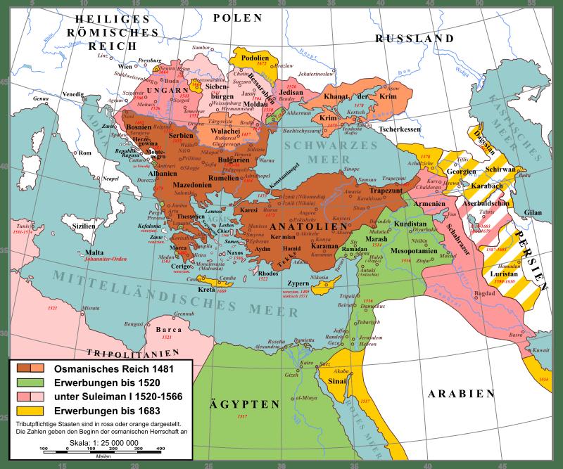 Osmanisches Reich Karte 1914.Der Aufstieg Des Osmanischen Reiches Militär Wissen