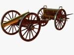Pistola de campo que puede ser tirada por caballos