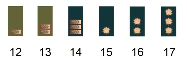 Israeli officer's ranks