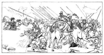 La fuga di Dario dopo la sconfitta del suo esercito