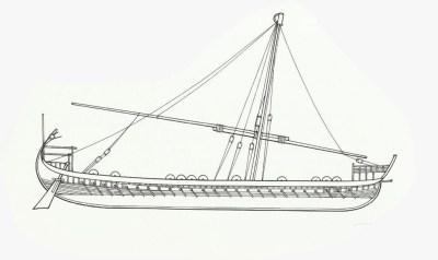 Дромон с 9 по 12 век