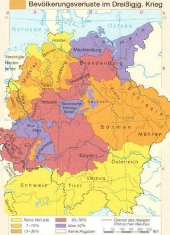 Bevölkerungsverluste im dreißigjährigen Krieg