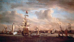 Die Gouden Leeuw, Gemälde von Willem van de Velde dem Jüngeren