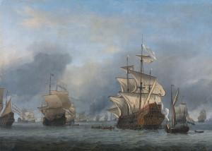 Die Prince Royal, Gemälde von Willem van de Velde dem Jüngeren