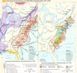 Koloniale Entwicklung Nordamerikas