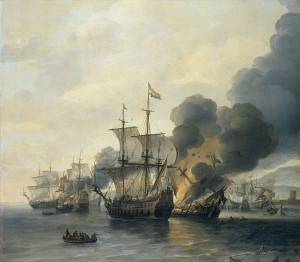 Bataille de la mer à Livourne le 14 mars 1653