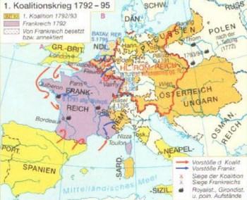 1. Guerre de coalition de 1792 à 1795