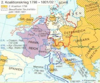2. Koalitionskrieg von 1798 bis 1802