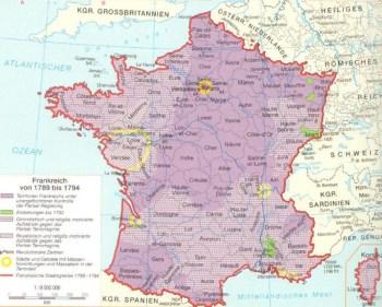 法国从1789年到1794年