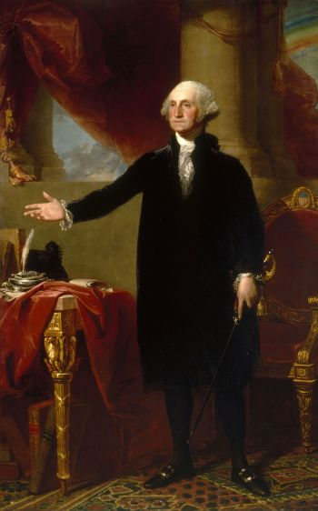 George Washington, Lansdowne Portrait von Gilbert Stuart, 1796