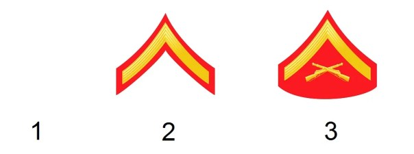 Team's ranks of the US marine corps
