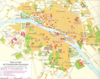 Paris à présent de la révolution française