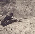 Ausbildungsgelände der Stülpnagel Kaserne Küstrin Vorbereitung zum Nahkampf mit Bajonett 1944
