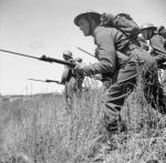 I soldati belgi con le loro baionette nella seconda guerra mondiale