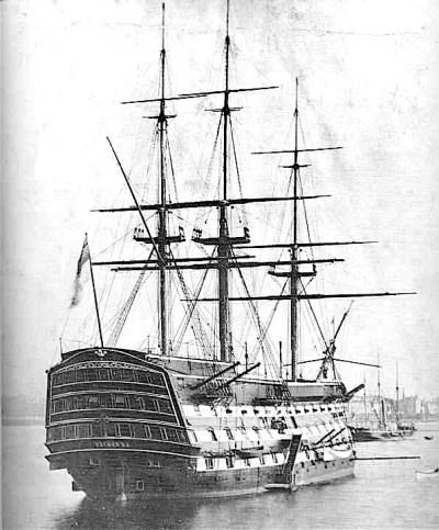 Die HMS Victory im Jahr 1884