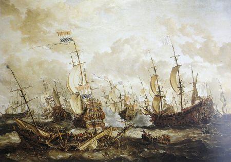 Die Viertageschlacht; Gemälde von Abraham Storck 1666