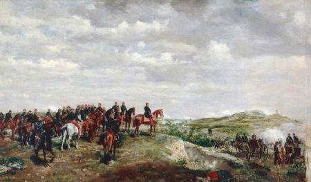 Napoleon III. in der Schlacht von Solferino