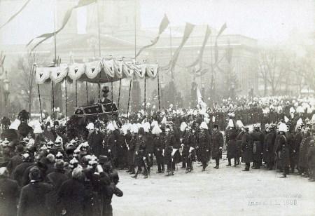 Beisetzung von Kaiser Wilhelm I. in Berlin, März 1888