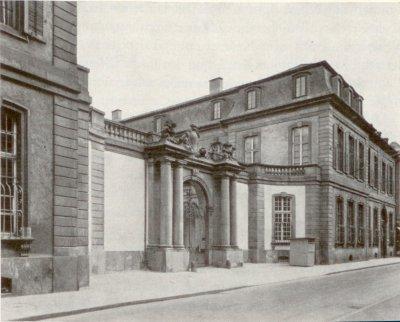 Le Palais Thurn und Taxis à Francfort, siège du Bundestag, vers 1900