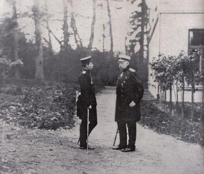 Le jeune Guillaume II et Bismarck