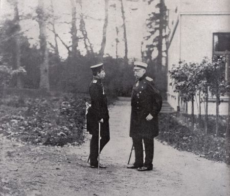 Der junge Wilhelm II. und Bismarck