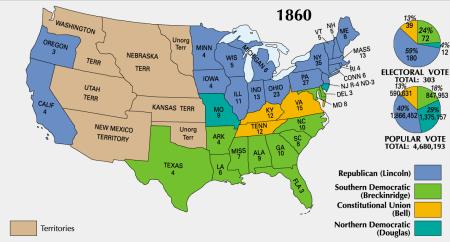 Ergebnis der Präsidentschaftswahl von 1860