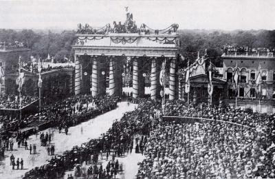 1871年战后,普鲁士军队进入柏林